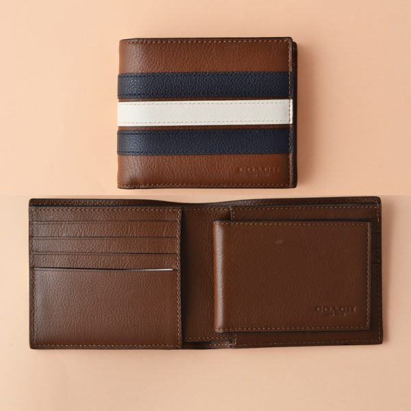 5711381d6461 ... new style coach 3 in 1 wallet with varsity stripe saddle midnight navy  chalk averand 4affd