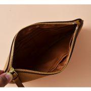 Coach Large Wristlet in Crossgrain Leather (IMBlack)-1