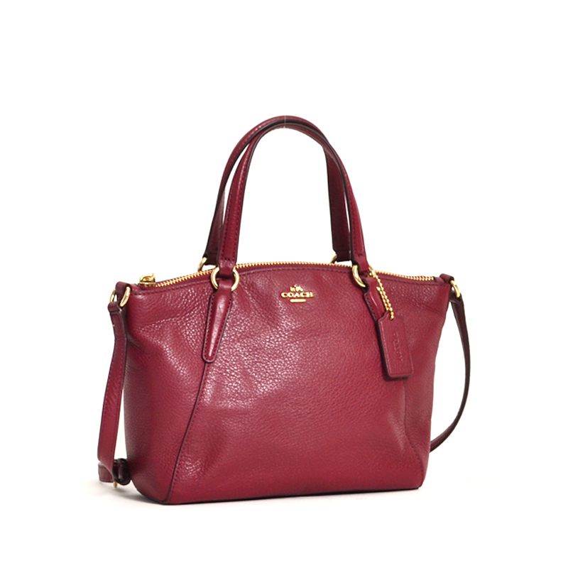 65d70c630b31 Coach Mini Kelsey Leather Crimson - Averand