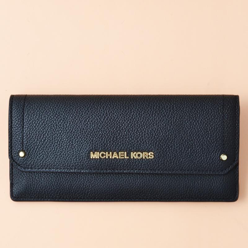 55a857ecfb18c8 Michael Kors Hayes Flat Wallet Leather Black - Averand