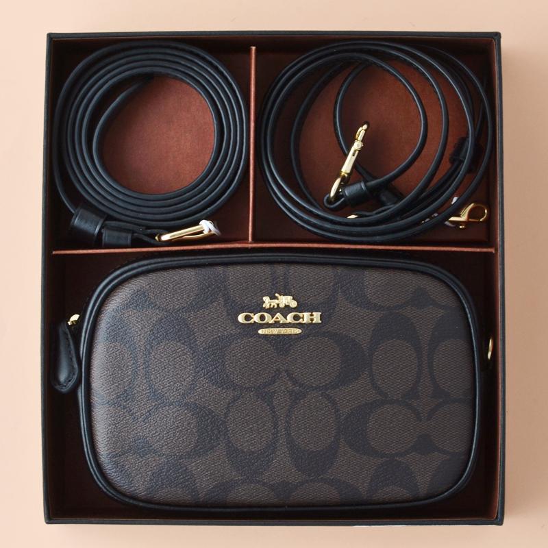4a154e027 Coach Belt Bag Signature Brown Black - Averand