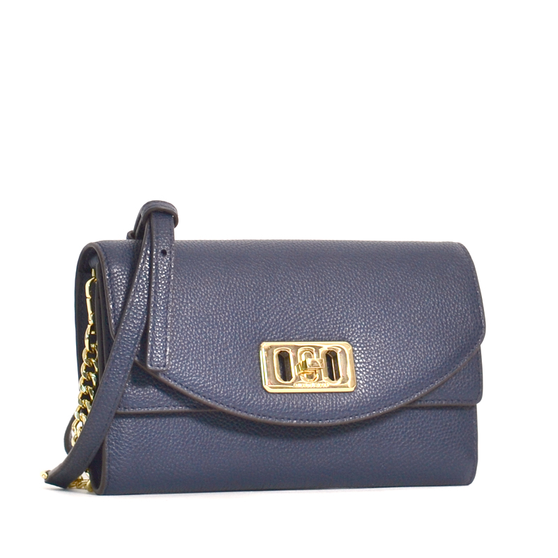 1696b080b31e0d Michael Kors Karson Wallet Clutch Leather Navy - Averand