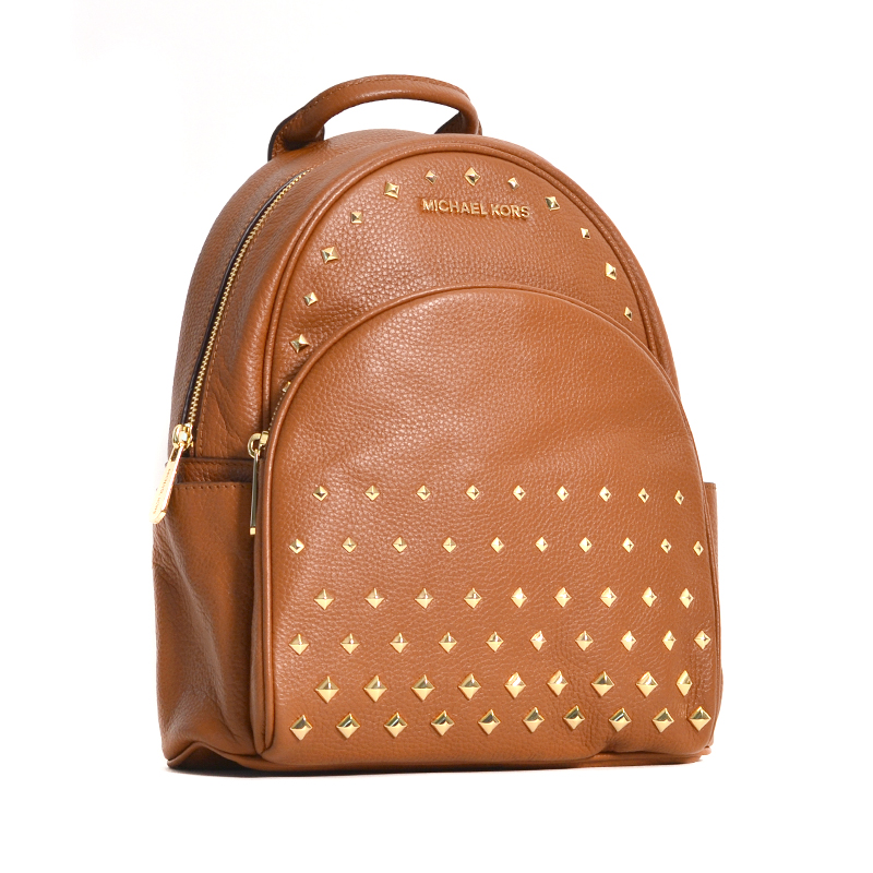 37a1f660a26f Michael Kors Abbey MD Studded Backpack Leather Luggage - Averand