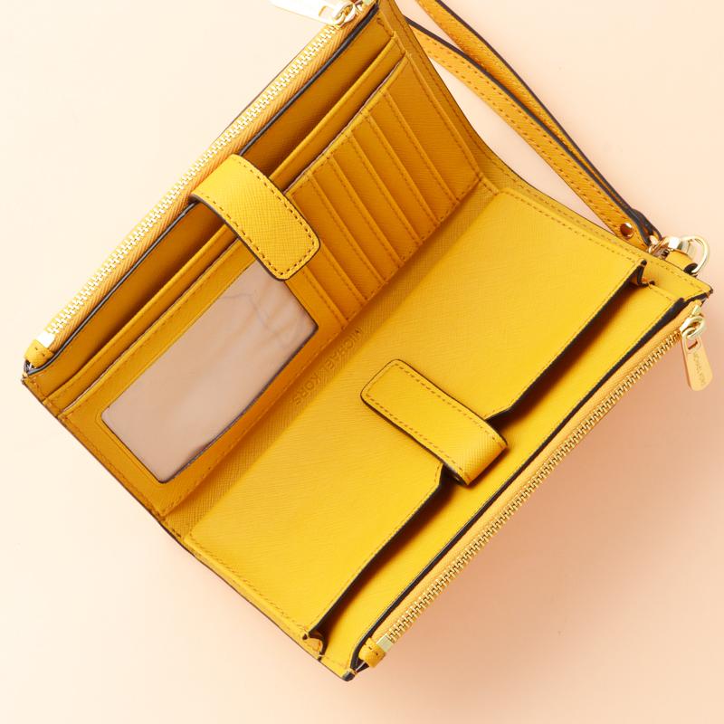 1914fc86cbcc MK Double Zip Wristlet Marigold - Averand