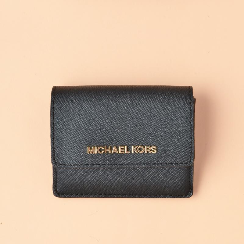 sale retailer bf3ec 905ac Michael Kors Jet Set Travel Card Case ID Wallet Black - Averand