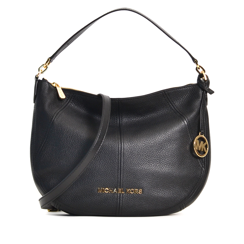 Michael Kors Bedford Medium Crescent Black Averand