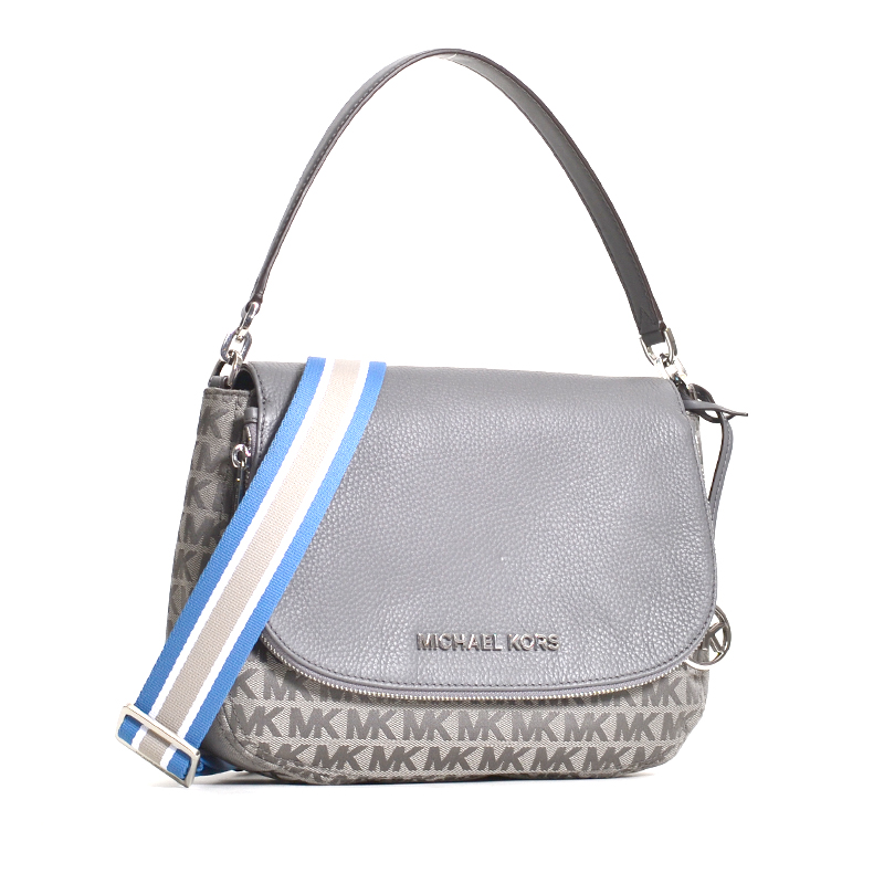 Michael Kors Bedford Signature Medium Shoulder Bag Heather Grey