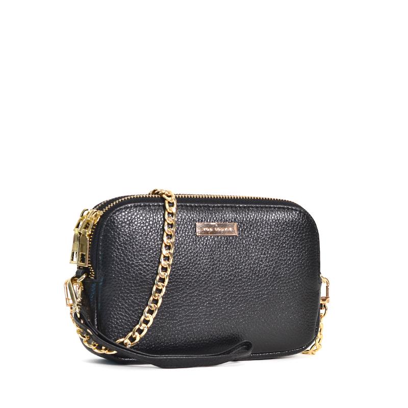 top design fashionablestyle diversified latest designs VLV Emma Chain Crossbody Clutch Black - Averand